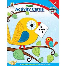 Carson Dellosa Math Activity Cards for