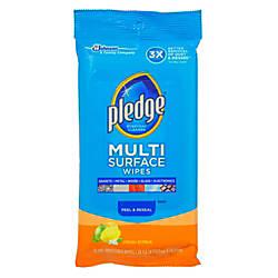Pledge Multi Surface Clean Dust Wipes