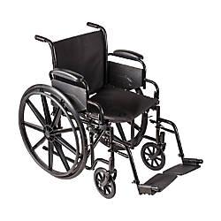 DMI Carbon Steel Folding Wheelchair 37