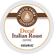 Barista Prima Coffeehouse Italian Roast Decaffeinated