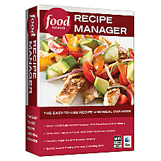Food Network Recipe Manager For PCMac