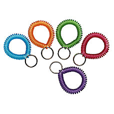 MMF Wrist Coil Key Rings Assorted