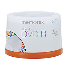 Memorex DVD R Recordable Printable Media