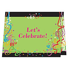 Full Color Note Card Invitations Folded