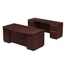 Bush Business Furniture Milano2 Bowfront Double
