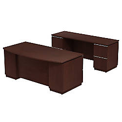 Bush Business Furniture Milano2 Bow front