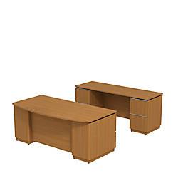 Bush Business Furniture Milano2 Bowfront Double