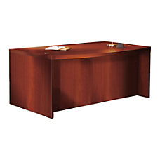 Mayline Aberdeen Laminate Bow Front Desk