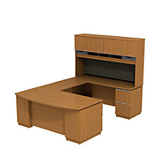 Bush Business Furniture Milano2 Bowfront Desk