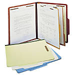 SJ Paper Classification Folders 2 Dividers