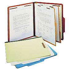 SJ Paper Classification Folders 2 Dividers