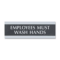 US Stamp Sign Employees Must Wash