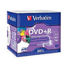 Verbatim DVDR 47GB 16X White Glossy