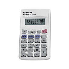 Sharp EL 233SB Handheld Basic Calculator