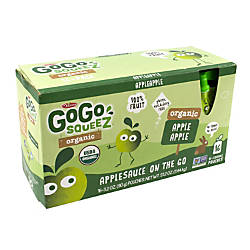 Materne GoGo Squeez Organic Applesauce Pouches