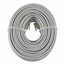 GE Phone Line Cord 50 White