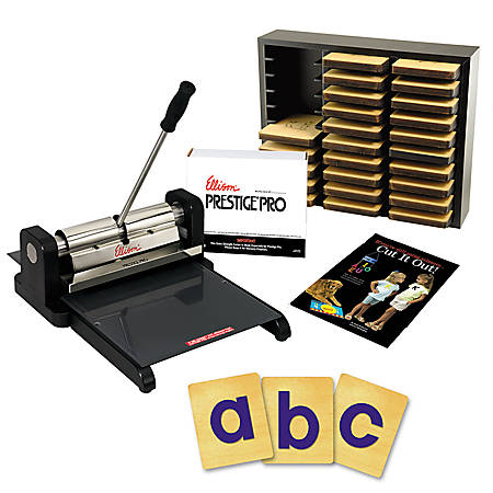 Ellison die cut machine starter set prestige pro with for Engraving machine letter sets