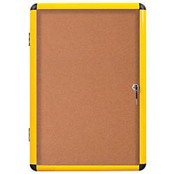 MasterVision Enclosed Cork Board 28 x