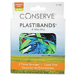Baumgartens PlastiBands Assorted ColorsSizes Box Of