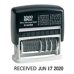 Cosco Micro Self Inking Date Stamp