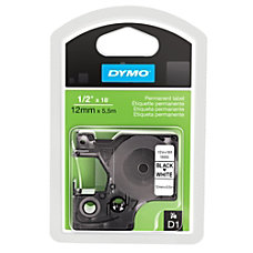 DYMO 16955 Black On White Permanent