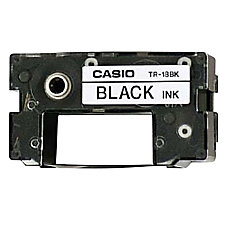 Casio TR18BK Black Ink Ribbon 075