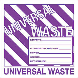Tape Logic Preprinted Labels Universal Waste