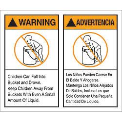 Tape Logic Preprinted Labels Warning Advertencia