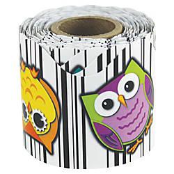 Carson Dellosa Colorful Owls Scalloped Border
