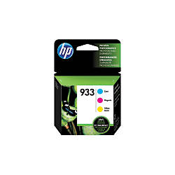 HP 933 CyanMagentaYellow Ink Cartridges N9H56FN140