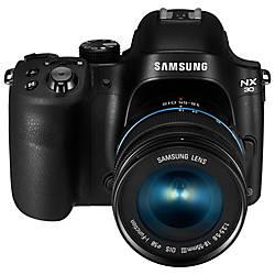Samsung Smart NX30 20.3 Megapixel Mirrorless Camera with Lens - 18 mm - 55 mm - Black