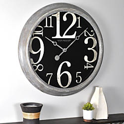FirsTime Weathered Tilt Wall Clock 24