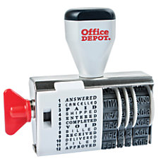 Office Depot Brand Dial N Stamp