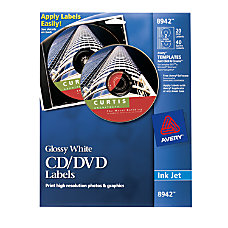 Avery InkjetLaser CDDVD Labels 4 12