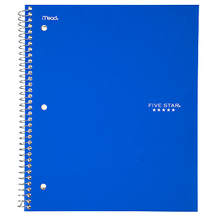 Five Star Notebook With 2 Pockets 8 12 X 11 1 Subject