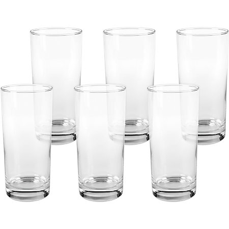 office settings riviera drinking glasses 16 oz clear box of 6 by office depot officemax. Black Bedroom Furniture Sets. Home Design Ideas