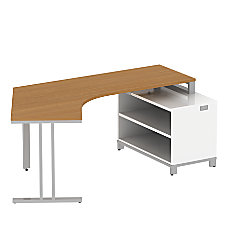 BBF Momentum Dog Leg Left Desk