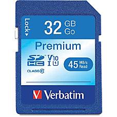 Verbatim 32GB Premium SDHC Memory Card