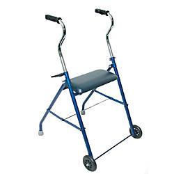 DMI Adjustable Steel Folding Walker With