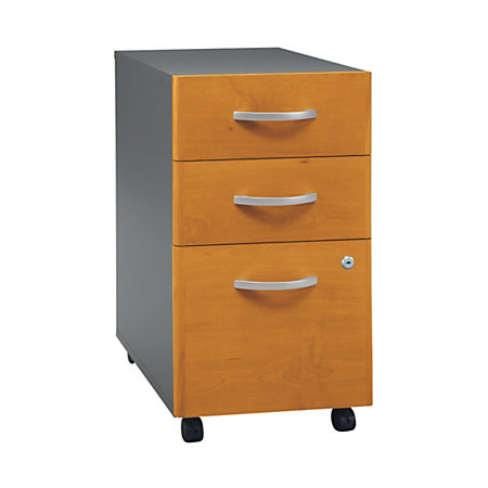 bush corsa 3 drawer vertical file natural cherry item 606892