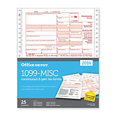 Office Depot 1099 MISC Continuous Tax