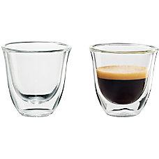 DeLonghi Espresso Glasses 2 Oz Glass