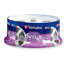 Verbatim DVDR 47GB 8X with DigitalMovie