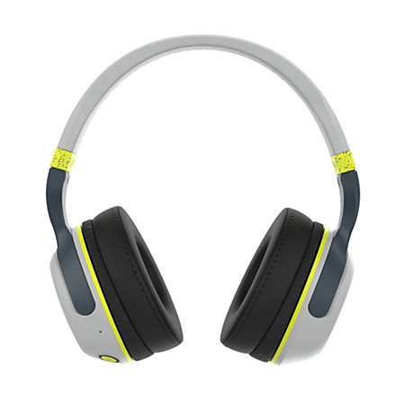 skullcandy hesh 2 bluetooth wireless headphones grayhot lime by office depot officemax. Black Bedroom Furniture Sets. Home Design Ideas