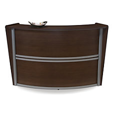 OFM Single Marque Reception Station Walnut