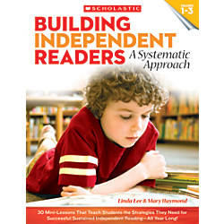 Scholastic Teacher Resources Building Independent Readers