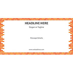 Custom Horizontal Banner Bricks