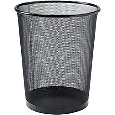 Lorell Black Steel Mesh Round Waste
