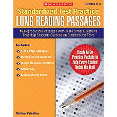 Scholastic Standardized Test Practice Long Reading