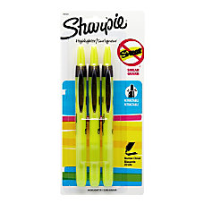 Sharpie Accent Retractable Highlighters Fluorescent Yellow